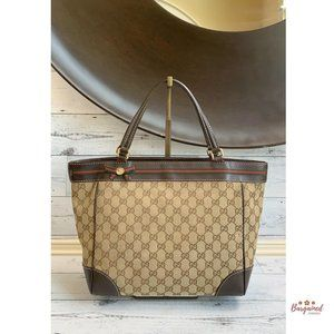 Authentic Gucci Web Mayfair Tote Bag 257061